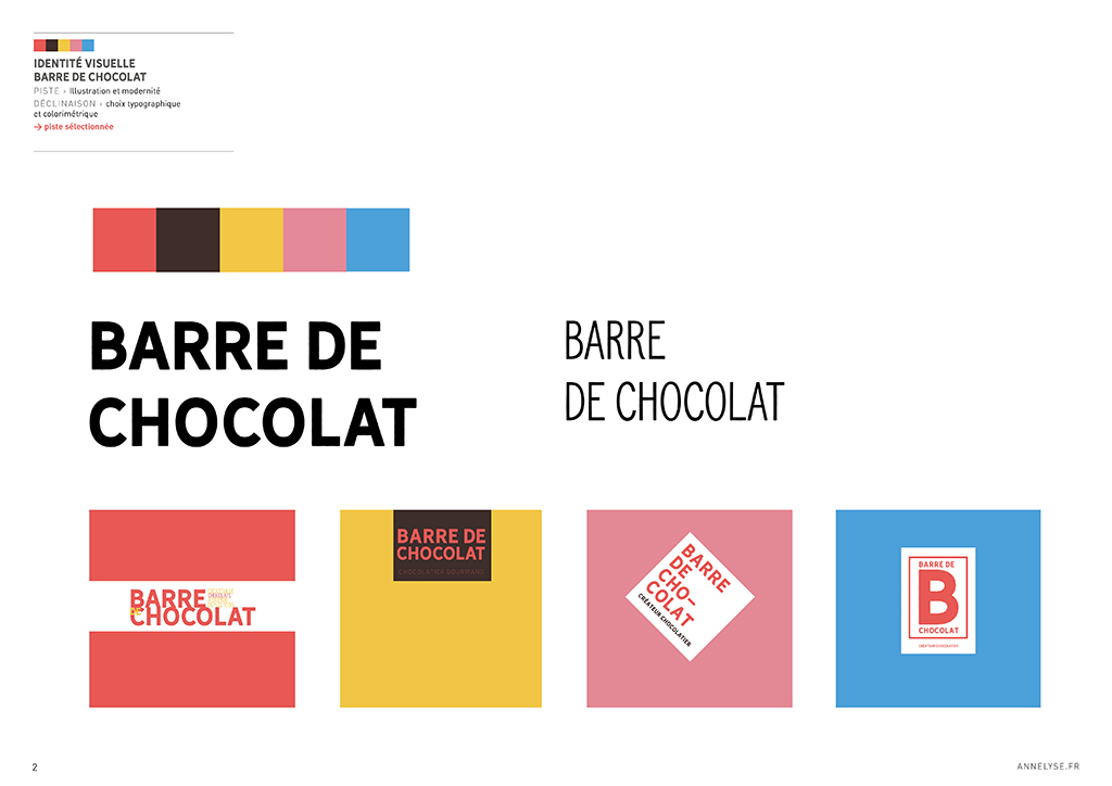 "Identité visuelle et packaging chocolaterie ""Barre de Chocolat"""