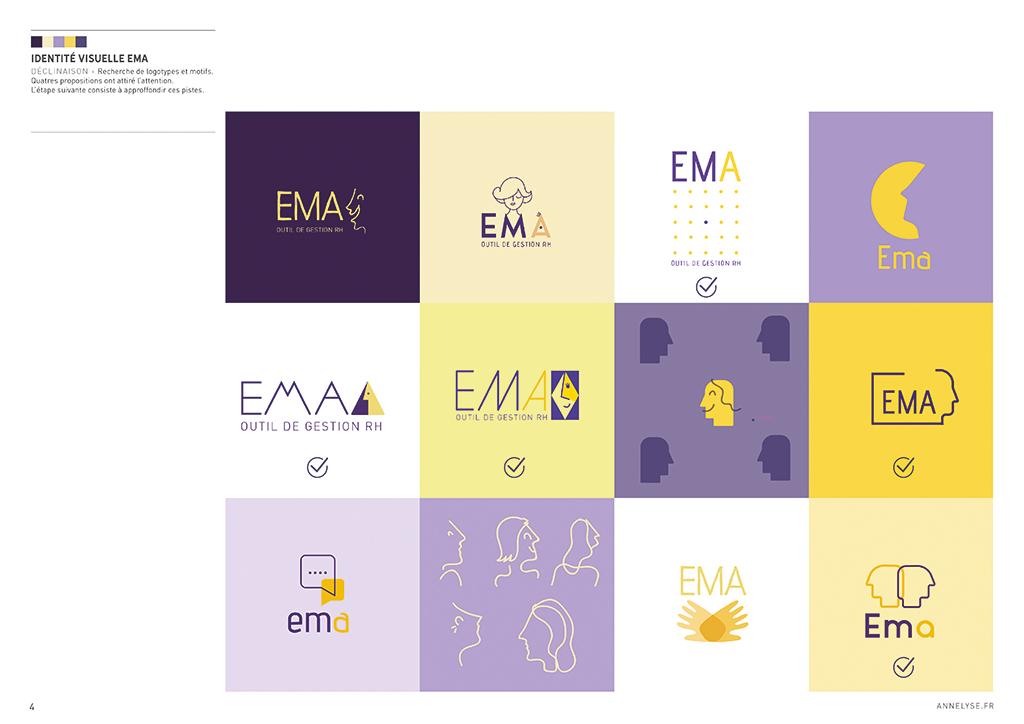 """identité visuelle """"EMA"""""""
