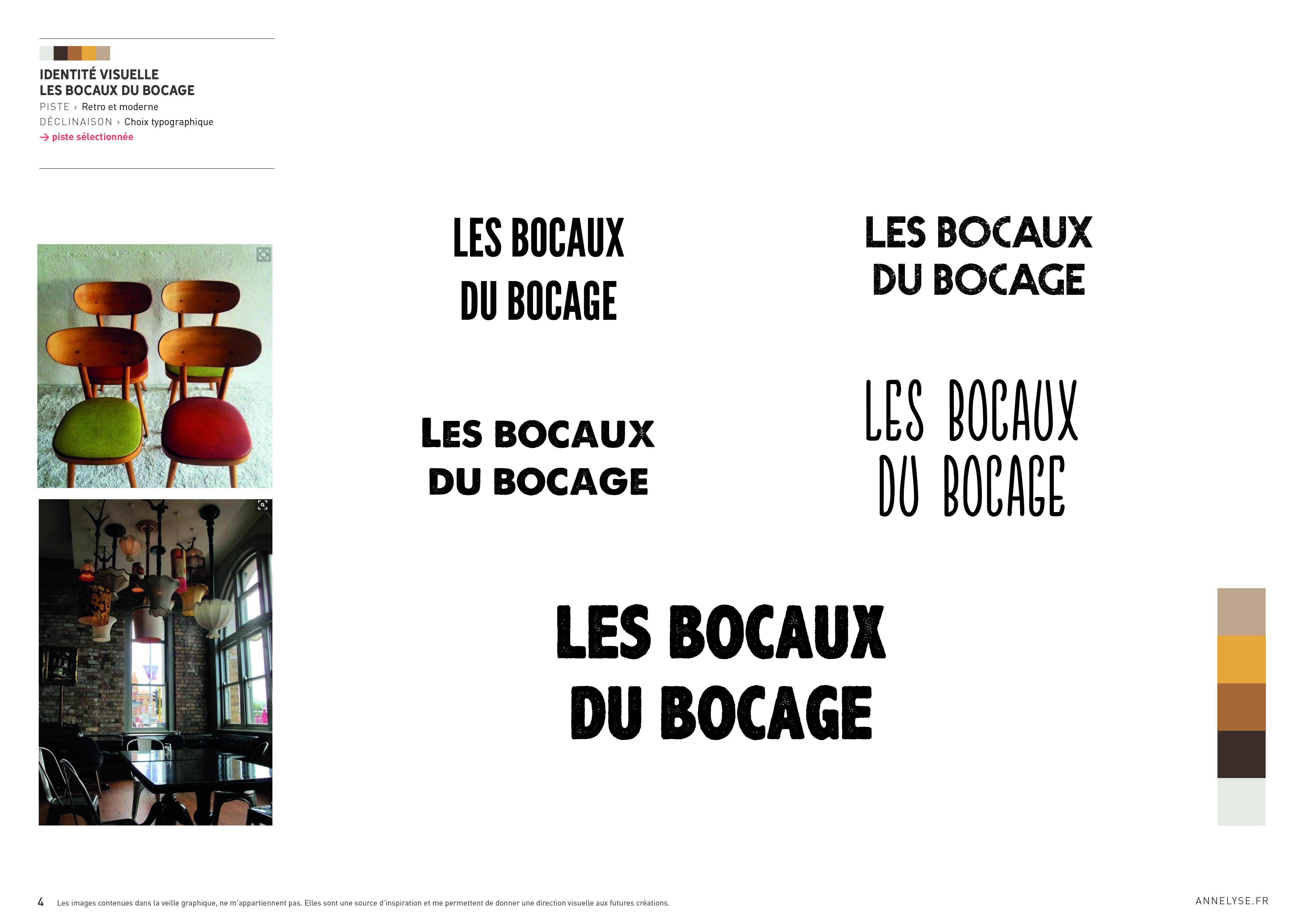 """Identité visuelle """"Les Bocaux du Bocages"""""""