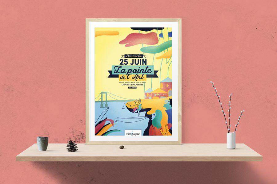 """Affiche """"La pointe de l'Art"""" à Bouchemaine"""