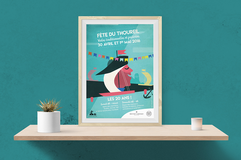 Affiche des 20 ans de la fête du Thoureil