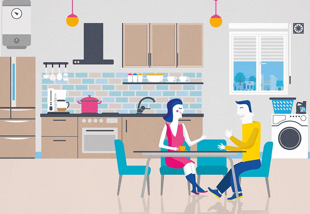 Illustrations pour Haut de Seine Habitat