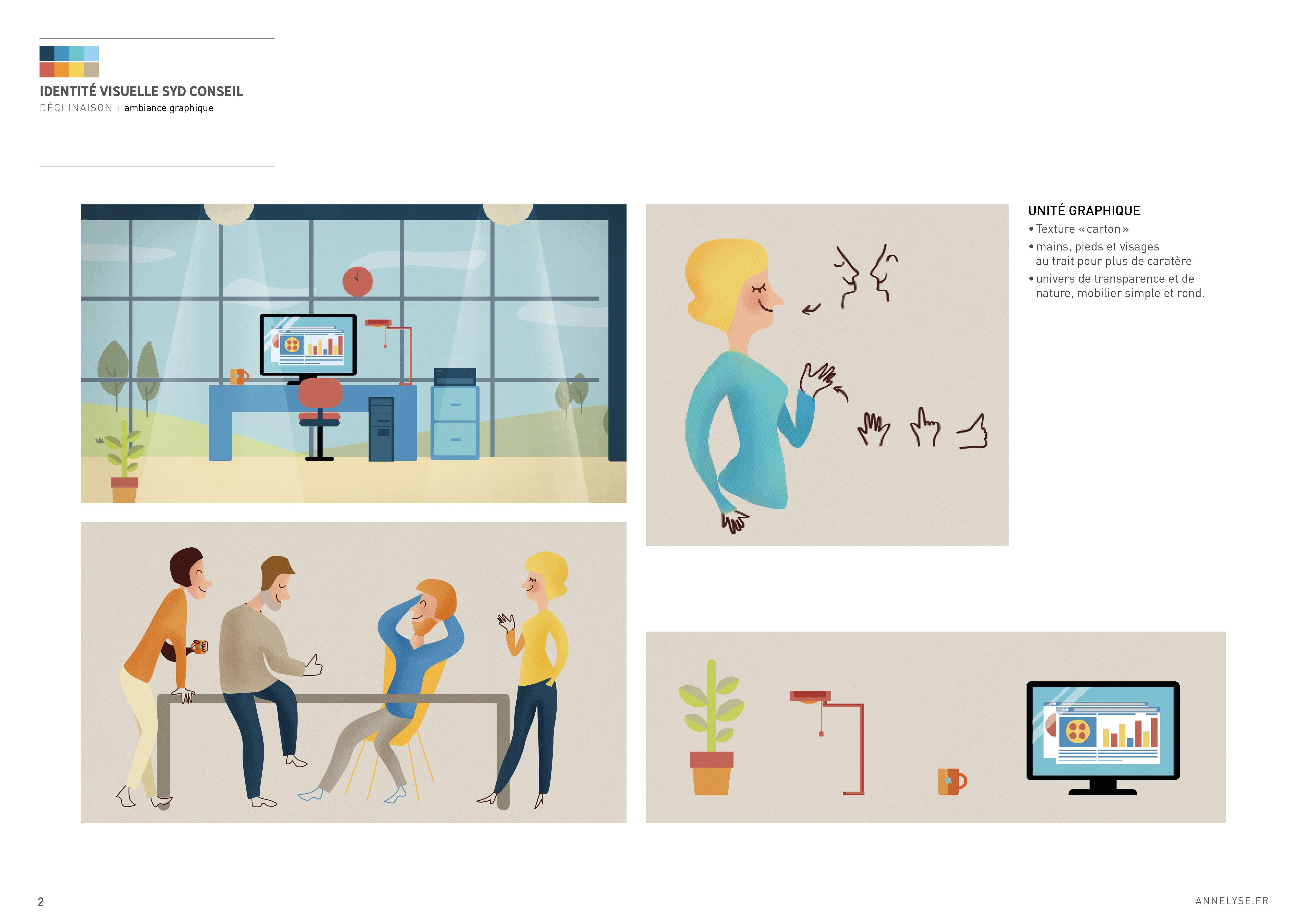 Illustrations pour vidéo animé pour Syd Conseil