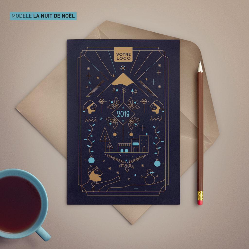 """Modèle de carte """"La nuit de Noël"""""""