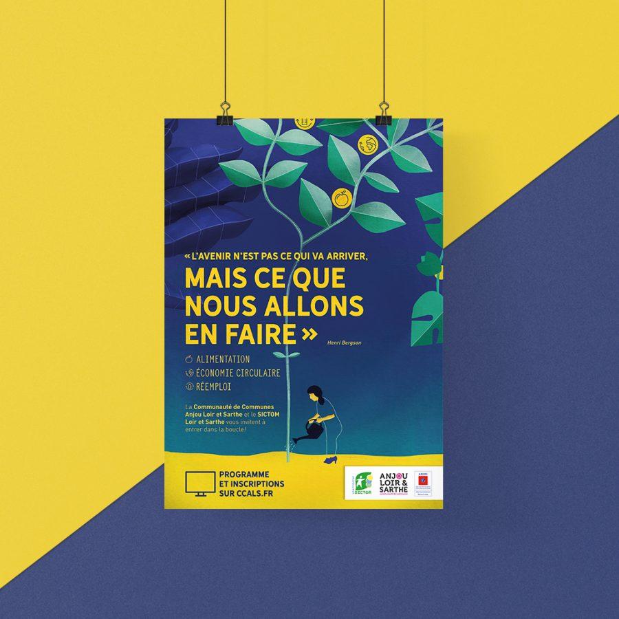 Affiche Anjou Loir et Sarthe