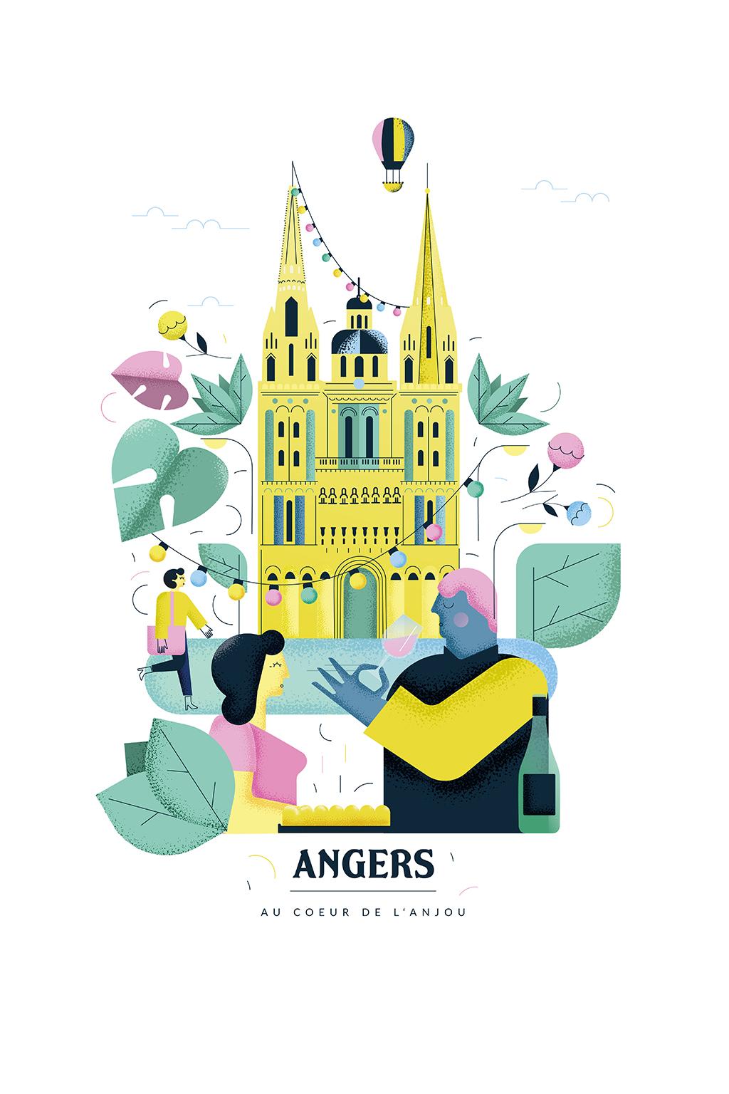 Affiche Destination Angers